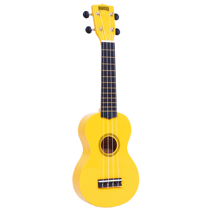 Mahalo Rainbow Soprano Ukulele with FREE bag Yellow