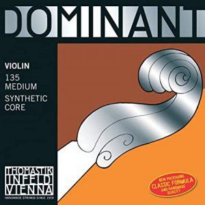 Dominant Violin String - D 4/4 Silver Medium