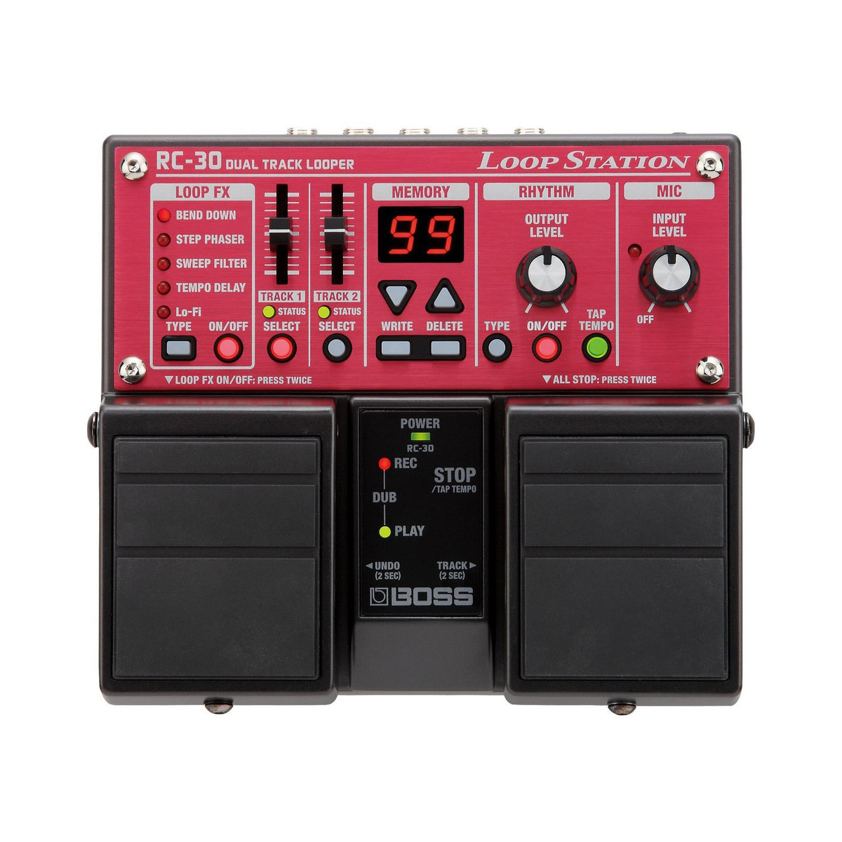 boss rc 30 loop station effects pedal trax music store. Black Bedroom Furniture Sets. Home Design Ideas