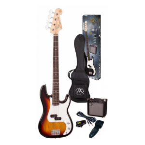 SX SB2 Precision Bass Kit 3 Tone Sunburst