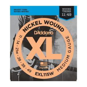 D'addario EXL115W Nickel Wound Guitar Strings 11-49