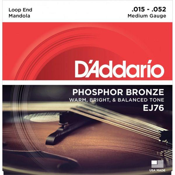 D'Addario EJ76 Mandola Strings Medium 15-52