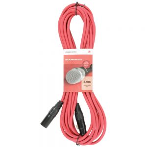 Chord 6 Metre Classic XLR - XLR Microphone Cable Red