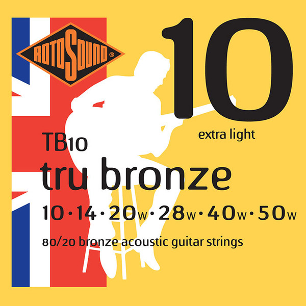 Rotosound TB10 Acoustic Guitar Strings 10-50
