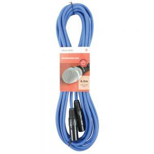 Chord 6 Metre Classic XLR - XLR Microphone Cable Blue