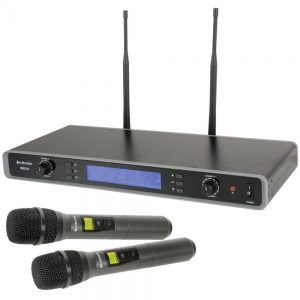 Citronic RU210 Tuneable Dual UHF Handheld Microphone System