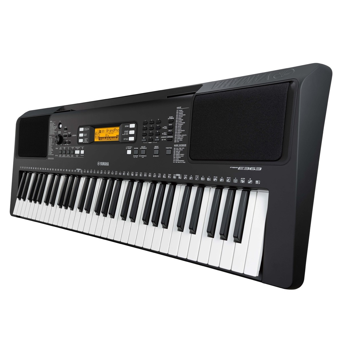 yamaha psr e363 portable keyboard. Black Bedroom Furniture Sets. Home Design Ideas
