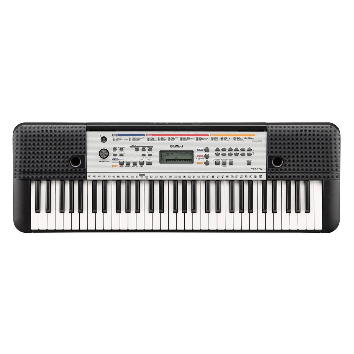Yamaha ypt 260 61 key portable keyboard for Yamaha learning keyboard