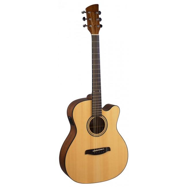 Brunswick BF400CE Folk Guitar Natural Electro Cutaway