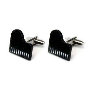 Cufflinks Grand Piano Black