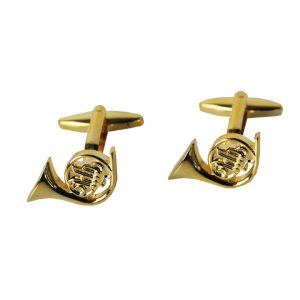 Cufflinks French Horn Design