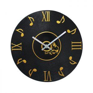 Wall Clock LP Music Notes DJ Display
