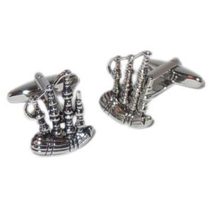 Cufflinks Bagpipes Design