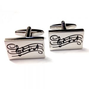 Cufflinks Music Notes Design