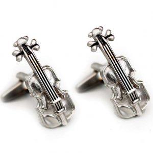 Cufflinks Violin Design