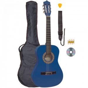 Palma 3/4 Size Junior Classical Guitar Outfit Blue