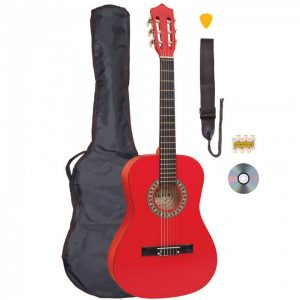 Palma 3/4 Size Junior Classical Guitar Outfit Red
