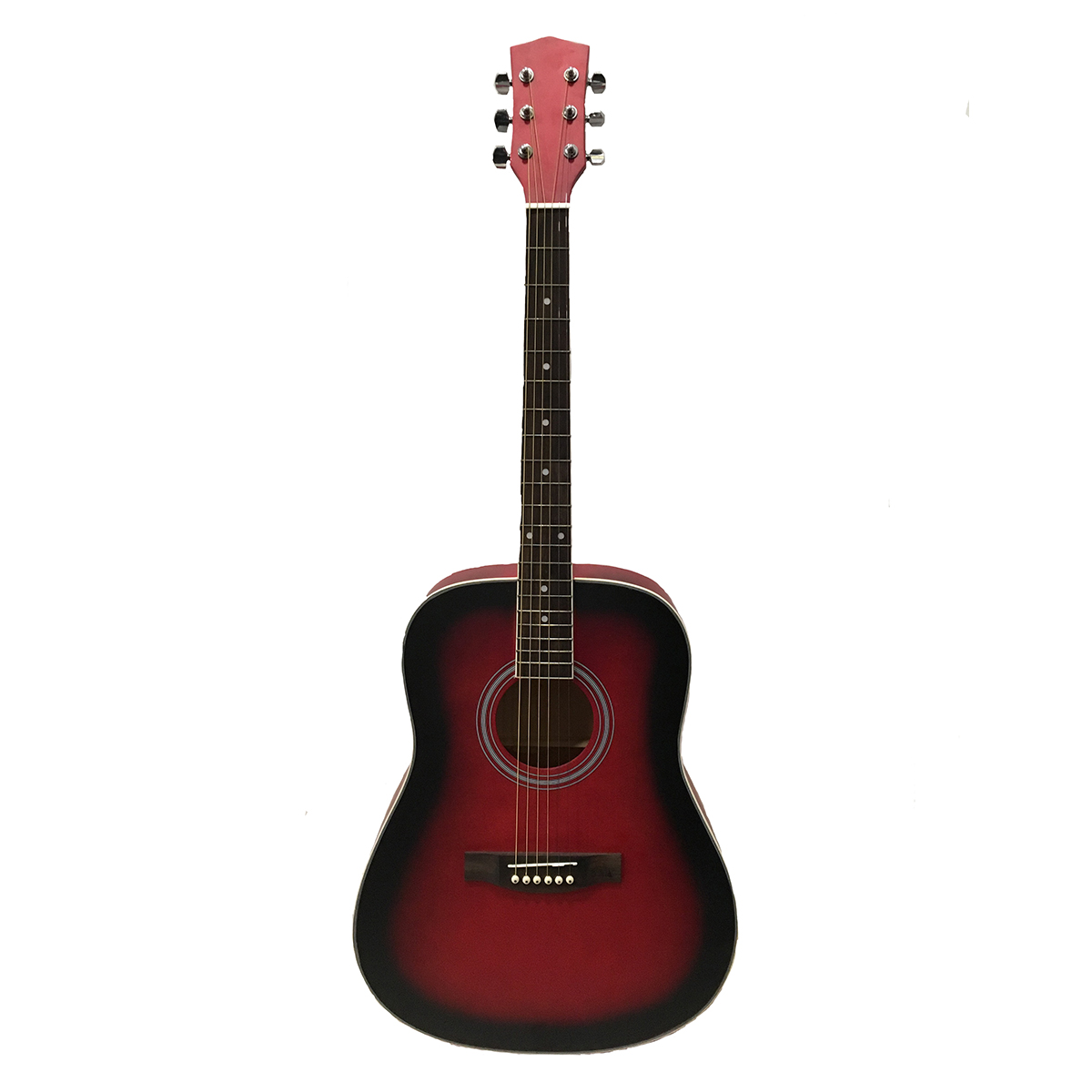 Dreadnought Acoustic Guitar by Trax, Redburst
