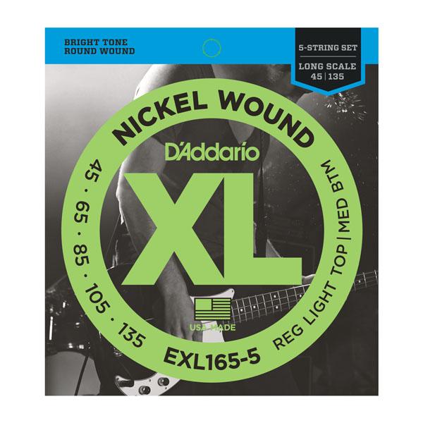 D'addario EXL165-5 Nickel Wound 5-String Bass Strings