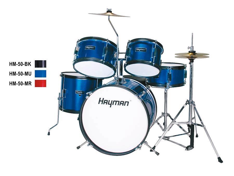 Hayman Junior Series 5 Piece Drum Kit Blue Trax Music