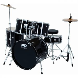 Performance Percussion PP250BK 5 Piece Drum Kit, Black