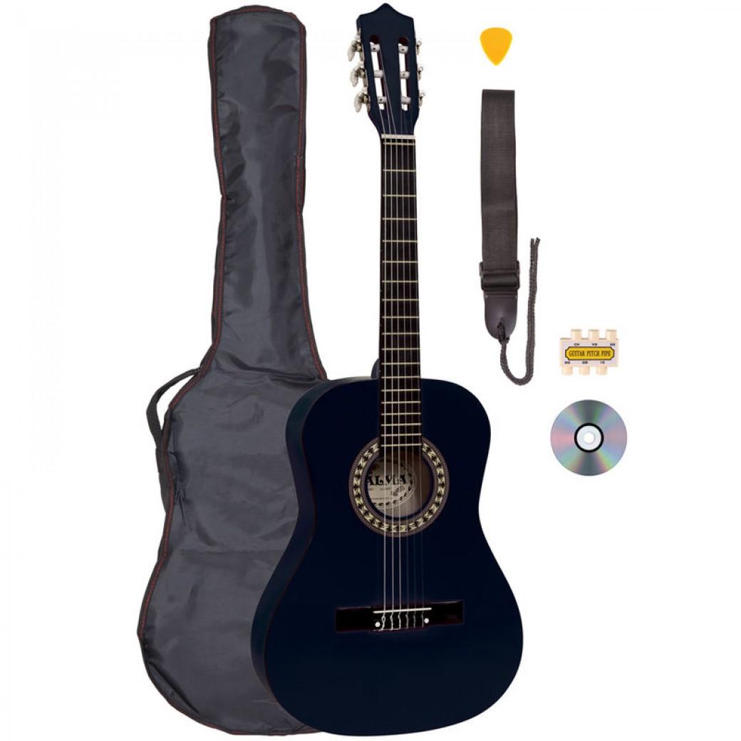 Palma 3/4 Junior Classical Guitar Outfit Black