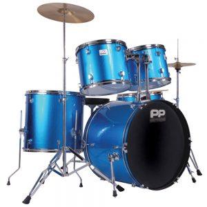 Performance Percussion PP250BL 5 Piece Drum Kit, Blue
