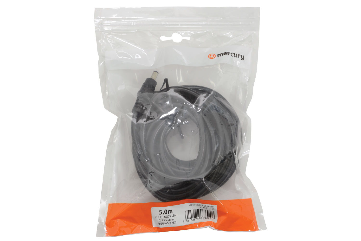 Mercury DC Extension Socket Cable - 5 Metre