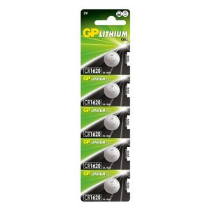 TheCR1620 GP Lithium Button Cell Battery - 5 Pack