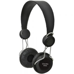 AV:Link Lightweight Headphones with In-line Microphone - Black