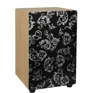 Hayman CAJ100BWF Cajon, Black with White Fractals