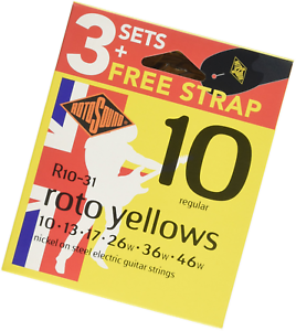 Rotosound R10-31 Electric Guitar Strings 10-46 (3 Pack)