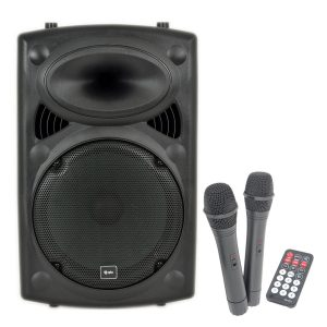 QTX QR12PA Portable PA System with Wireless Mics
