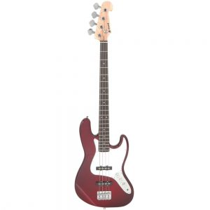Chord CAB42 Electric Bass Guitar Wine Red Burst