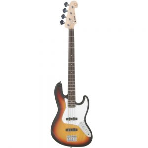 Chord CAB42 Electric Bass Guitar 3 Tone Sunburst