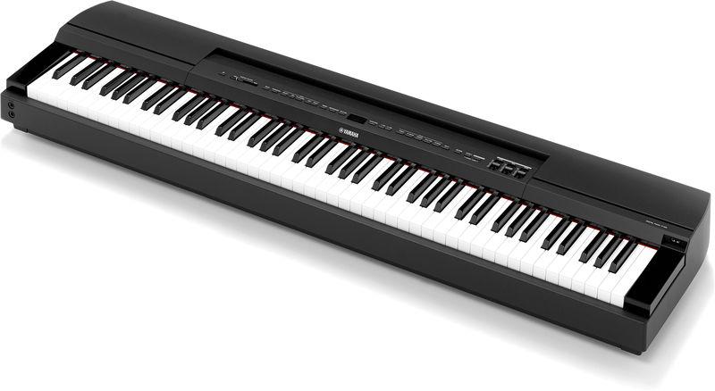 yamaha p255 lightweight digital piano black trax music store. Black Bedroom Furniture Sets. Home Design Ideas