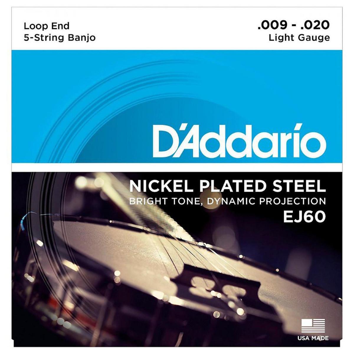 D'Addario EJ60 5-String Banjo Strings 9-20