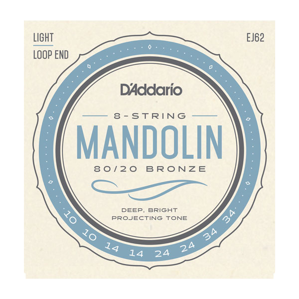 D'Addario EJ62 80/20 Bronze Mandolin Strings