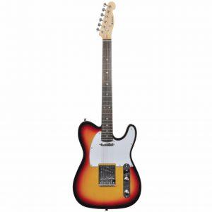 Chord CAL62 Telecaster Electric Guitar 3 Tone Sunburst