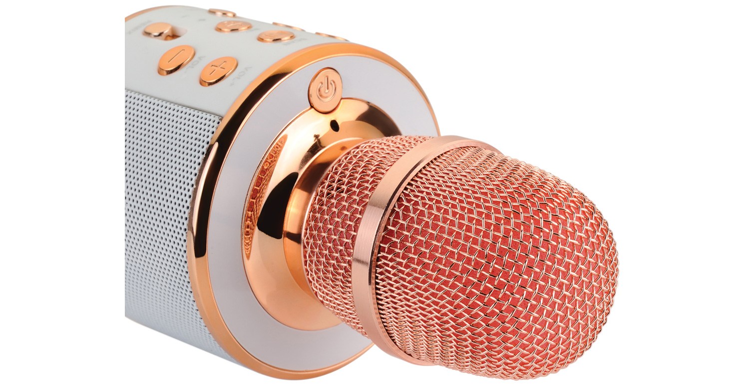QTX Karaoke Party Microphone Rose Gold