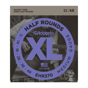 D'Addario EHR370 Half Rounds Medium Strings