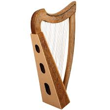 22 String Boru Harp Walnut