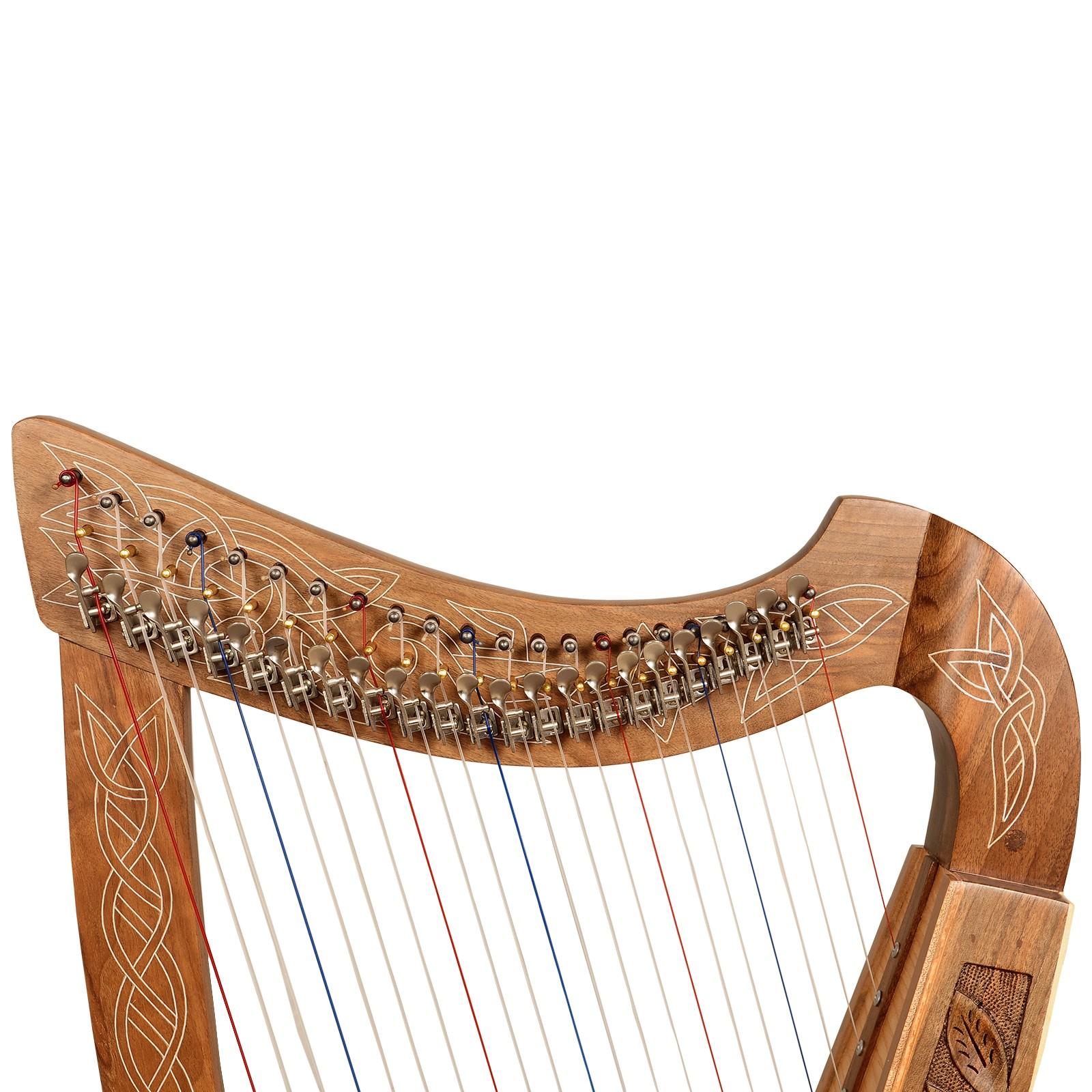 22 String Boru Harp Walnut