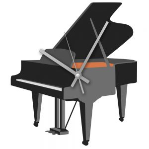 Rock Club Clock Grand Piano