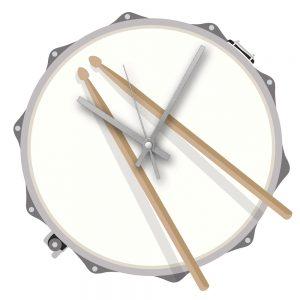 Rock Club Drum Clock
