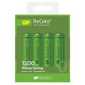 GP Recyko+ AA 1300mAh NiMH Rechargeable Batteries