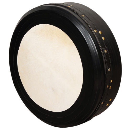 "Muzikkon Heartland 14""x 4"" T Bar Tunable Bodhran Deep Tune Black"