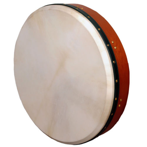 "Muzikkon Heartland 18""x 3.5"" Tunable Irish Bodhran Red Cedar"