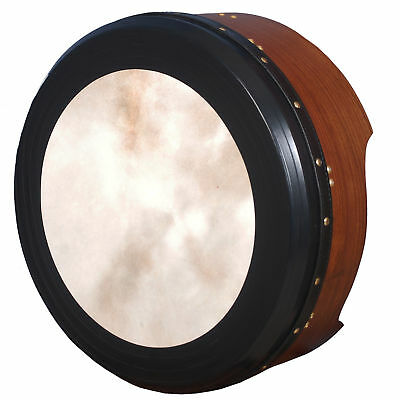 "Muzikkon Heartland 18""x 4"" Tunable Irish Bodhran Single Bar Rosewood"