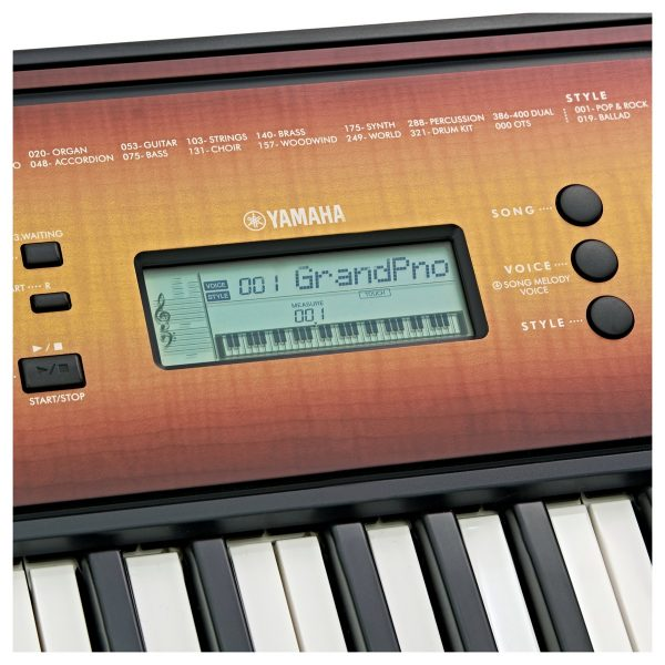 Yamaha PSR E360 Portable Keyboard Maple